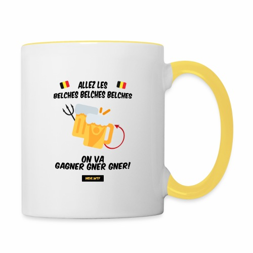 allez belge Par MDR.WTF - Mug contrasté