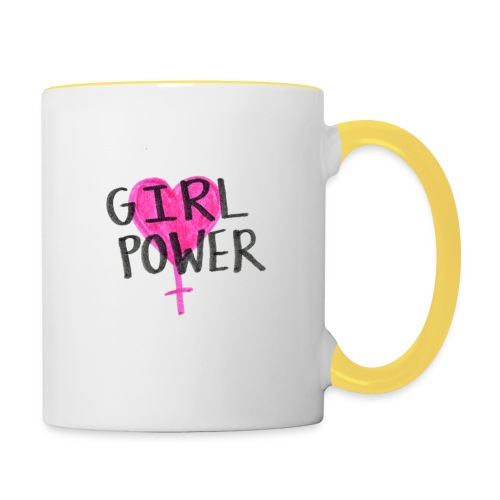 Girlpower - Tasse zweifarbig