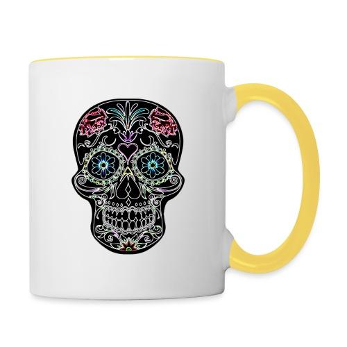 Floral Skull - Contrasting Mug