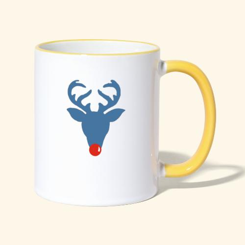 Rudolf meets Rode Neuzen Dag - Mug contrasté