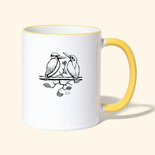 Eisvogel Liebe - Tasse zweifarbig