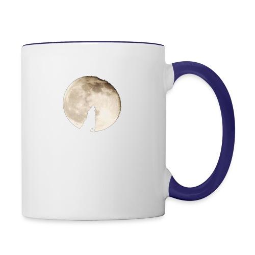 The wolf with the moon - Mug contrasté