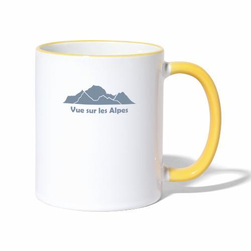 Vue sur les Alpes - Mug contrasté