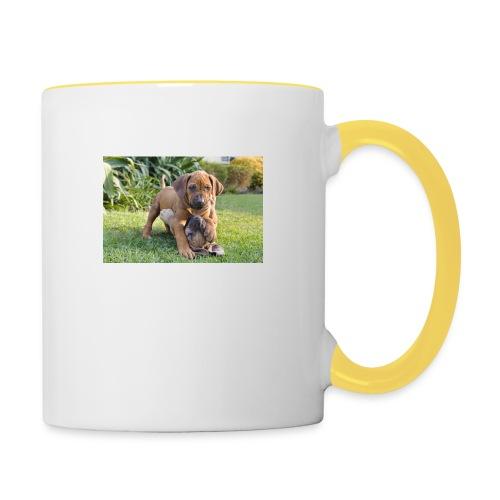 adorable puppies - Contrasting Mug
