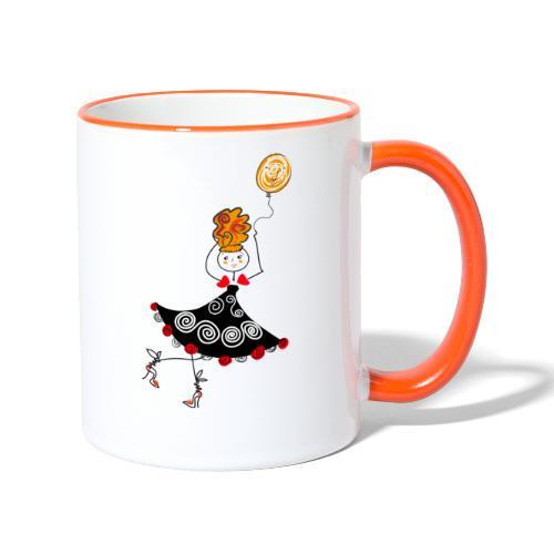 Ballerina con palloncino - Tazze bicolor