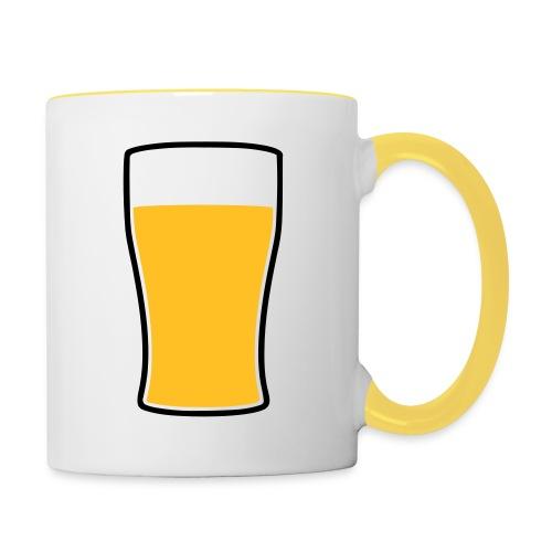 Bier! - Tasse zweifarbig