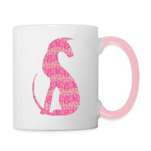 Siluett pink - Tvåfärgad mugg