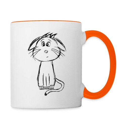 Kissa Kissanpentu musta scribblesirii - Kaksivärinen muki