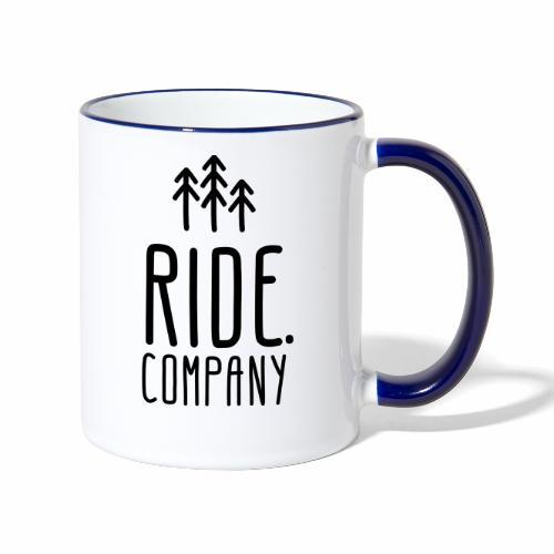 RIDE.company Logo - Tasse zweifarbig