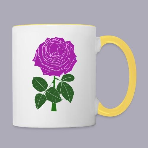 Landryn Design - Pink rose - Contrasting Mug