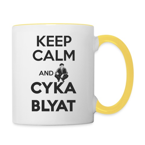 Keep Calm and Suka Blyat - Taza en dos colores