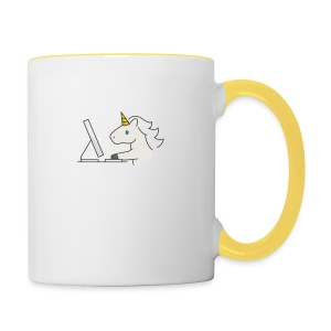 Unicorn Work - Contrasting Mug