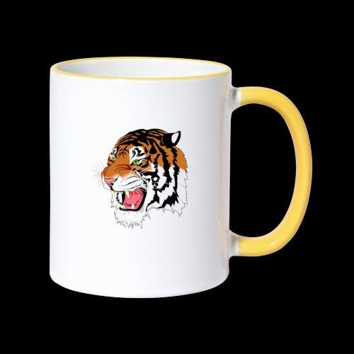Sumatra Tiger - Tasse zweifarbig