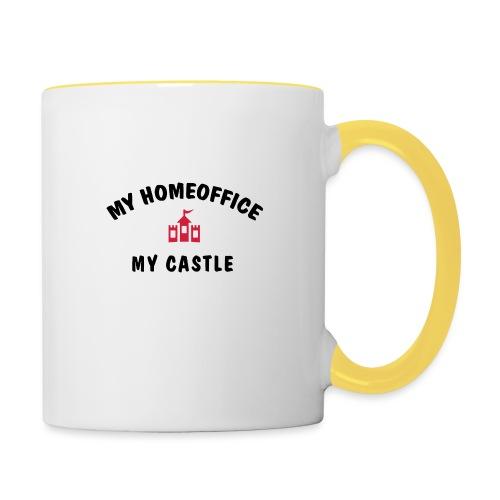 MY HOMEOFFICE MY CASTLE - Tasse zweifarbig