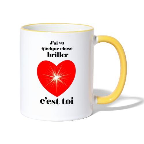Coeur brillant ...amoureux ou inspiré FC - Mug contrasté