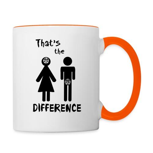 Unterschied Mann & Frau - Tasse zweifarbig