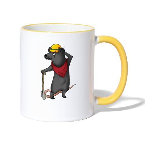 Arbeiter Ratte - Tasse zweifarbig