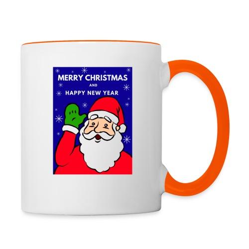 Christmas Holiday Santa Mug 1 - Taza en dos colores