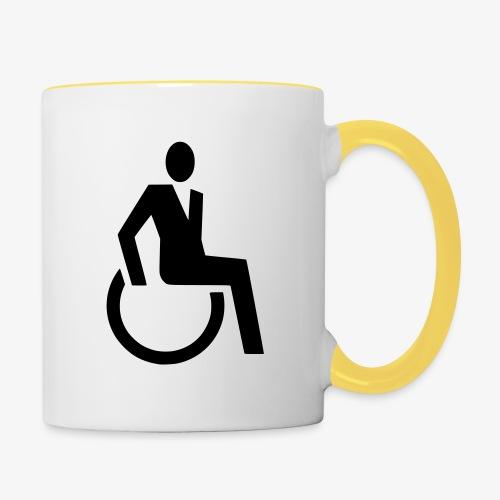 Sjieke rolstoel gebruiker symbool - Mok tweekleurig