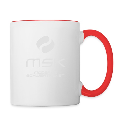 Logo_mit_schrift_2zeilig_ - Tasse zweifarbig