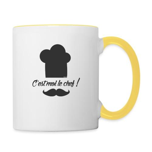Moi le chef ! (H) - Mug contrasté