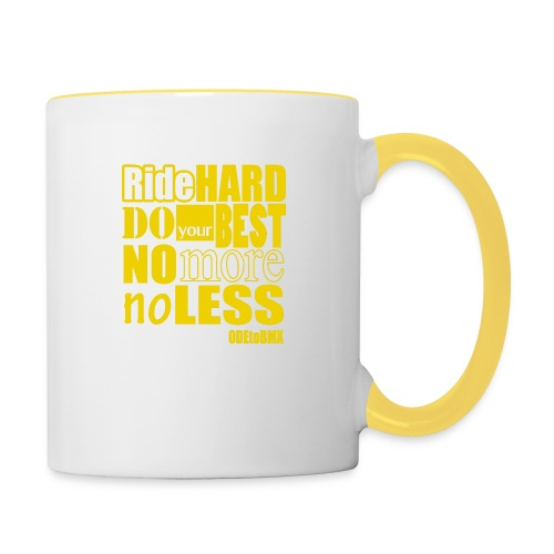 ridehard yellow - Contrasting Mug