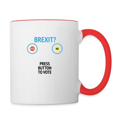 Brexit: Press Button To Vote - Tofarvet krus