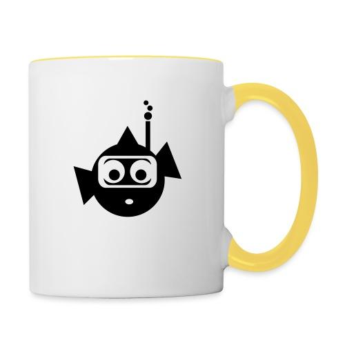 Fisch3 - Tasse zweifarbig