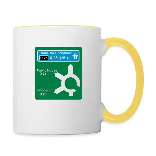 HOME_FOR_CHRISTMAS_SIGN - Contrasting Mug