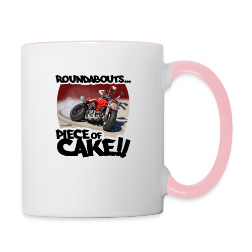 Ducati Monster Skidding - Taza en dos colores