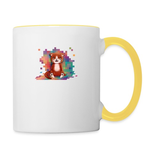 Pixels Make Me Cry - Contrasting Mug