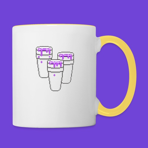 Purple - Tazze bicolor