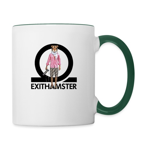 EXITHAMSTER LOGO WHITE BG - Contrasting Mug
