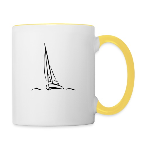 Segelboot - Tasse zweifarbig