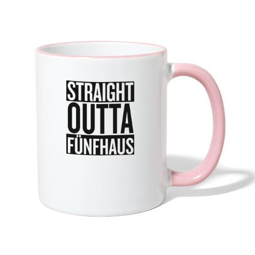 Straight Outta Fünfhaus - Tasse zweifarbig