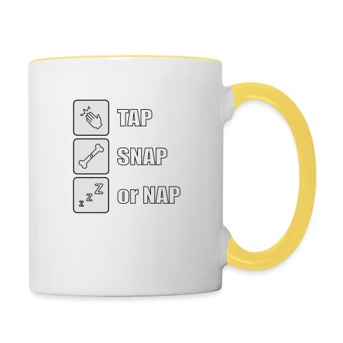 tap snap or nap - Kubek dwukolorowy
