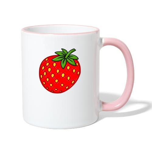 Erdbeere - Tasse zweifarbig