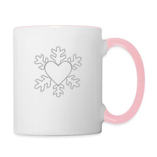 Flocon coeur 3D - Mug contrasté