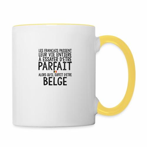 Les français passent leur vie entière a essayer - Mug contrasté
