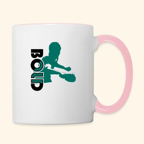 BOLD, table tennis championship ideal gift - Tasse zweifarbig