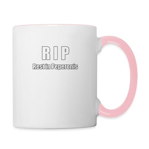 RIP Rest in Peperonis - Tasse zweifarbig