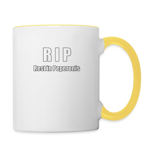 RIP Rest in Peperonis - Tasse zweifarbig
