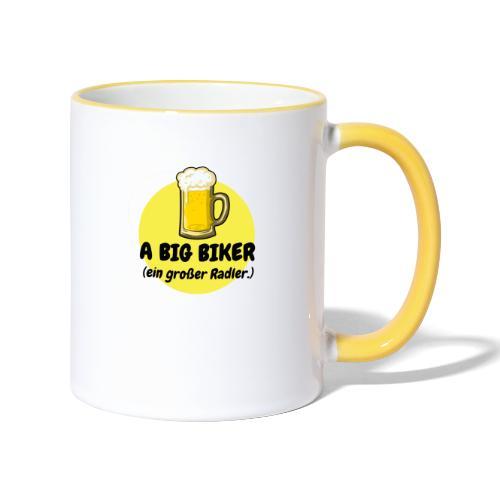 A big biker - Tasse zweifarbig