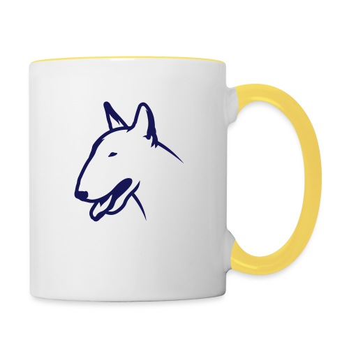 Bullterrier BULLY HEAD 1c_4light - Tasse zweifarbig