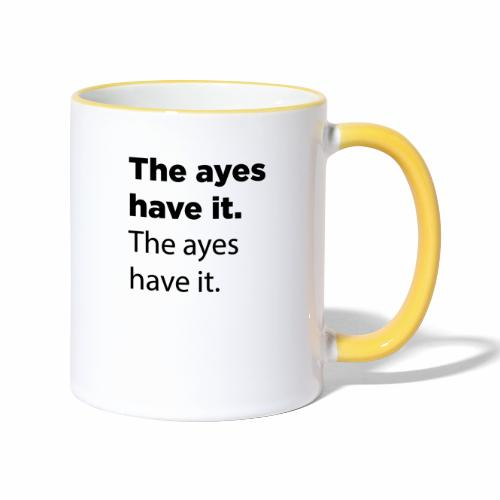 The ayes have it - Contrasting Mug