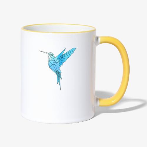 Kolibri Geometrisch - Tasse zweifarbig