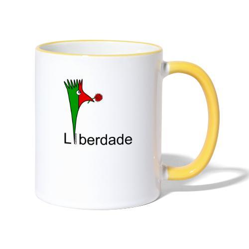 Galoloco - Liberdaded - 25 Abril - Tasse zweifarbig