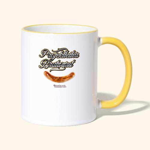 Grillen Design Projektleiter Bratwurst - Tasse zweifarbig