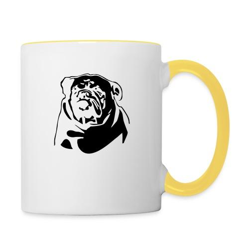 English Bulldog - negative - Kaksivärinen muki