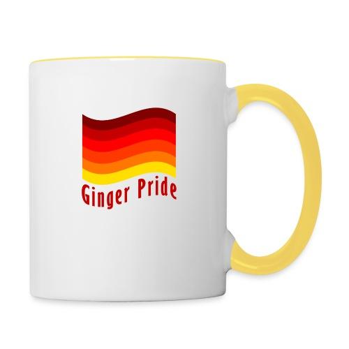 Ginger Pride flag Dark png - Contrasting Mug